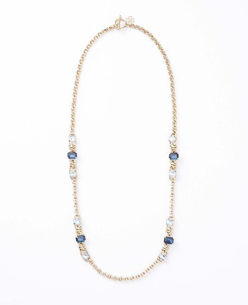 Midnight Frost Sparkle Necklace | Ann Taylor