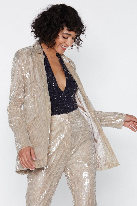 Pearl Sequin Blazer   Shop Clothes at Nasty Gal!