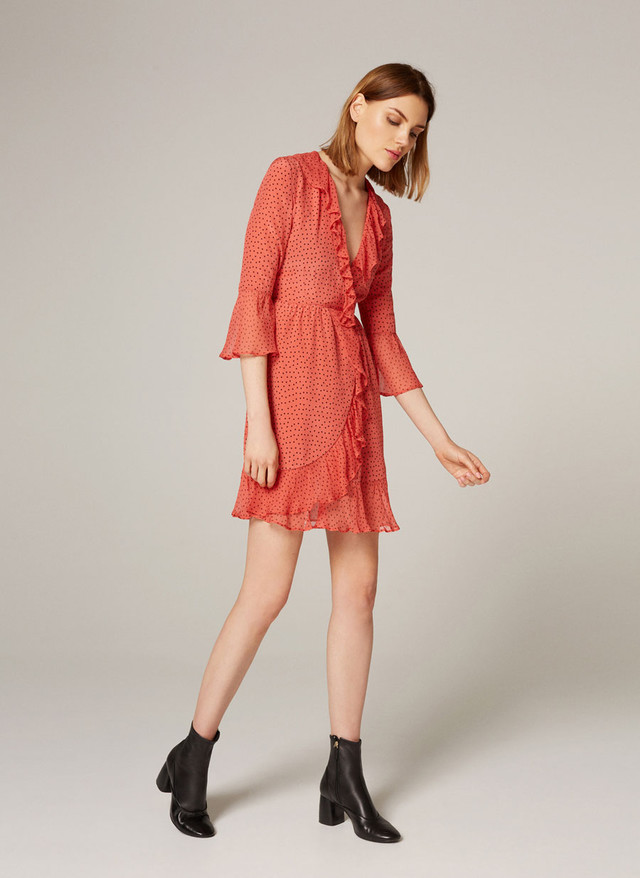 Red Wrap Dress Blogger Style Wheretoget