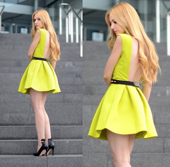 dress ball gown backless prom dress 2014,prom dresses,ball gown dress, evening dress neon sleevess 2014 new