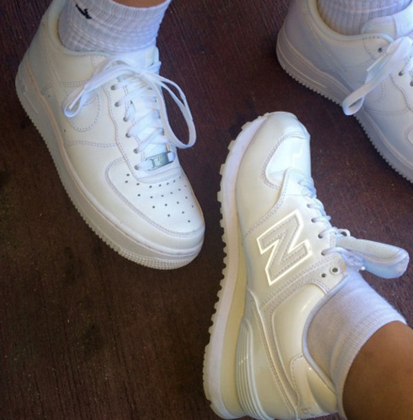 nike new balance white