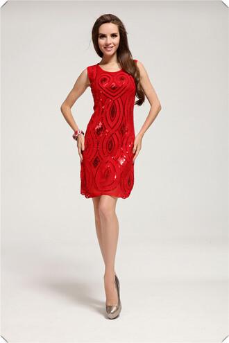 dress summer dress fashion dress sexy dress slim dress sleeveless dress sequin dress