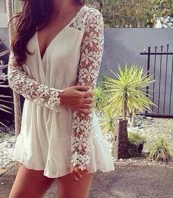 dress white short dress sexy details