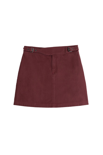 skirt mini skirt mini cotton red