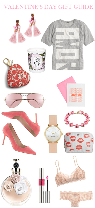 m loves m blogger valentines day gift idea grey t-shirt pink sunglasses aviator sunglasses pink bra heart kate spade t-shirt jewels bag shoes sunglasses