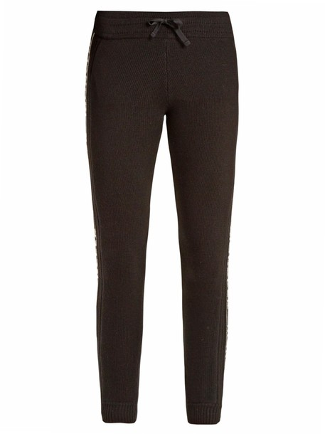 moncler leggings wool black pants