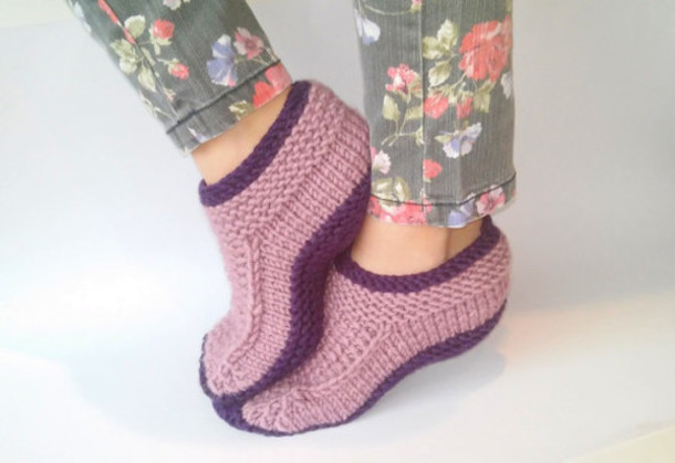 Knitting Women S Socks : Socks slippers women knitted