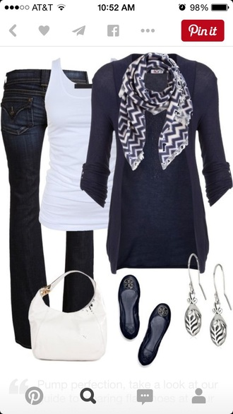 cardigan bag jeans scarf jewels shoes