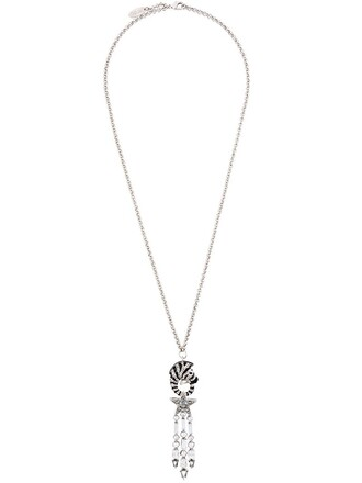 zebra necklace pendant metallic jewels