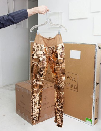 pants gold pants designer pants gold designer original tumblr clothes beautiful girly