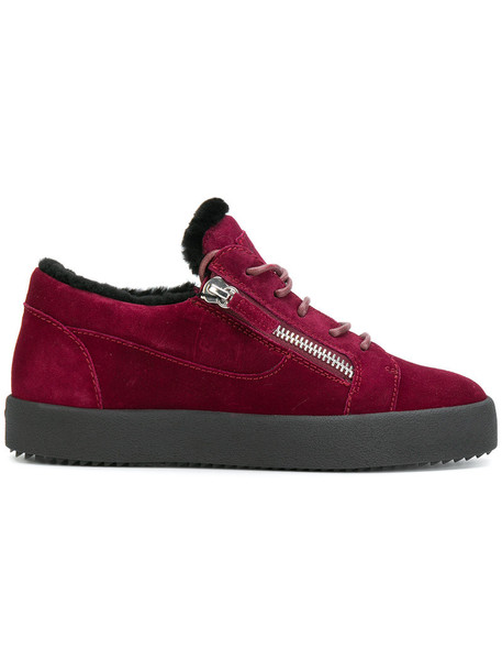 GIUSEPPE ZANOTTI DESIGN women sneakers suede red shoes