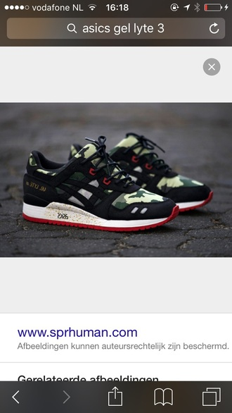shoes asics military style