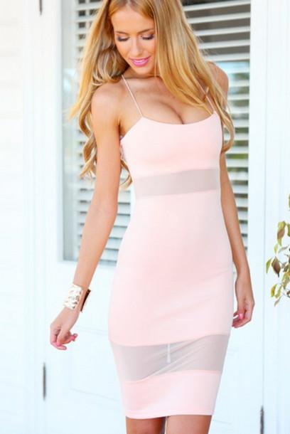 b3c3f23eb40b mesh mesh dress pink dress transparent transparent dress bodycon bodycon  dress model australian model wow mesh
