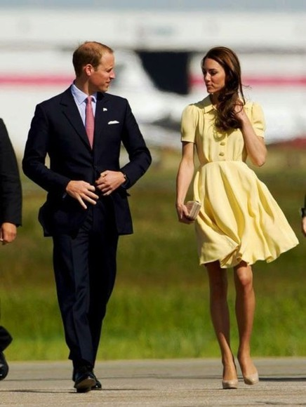 dress kate middleton yellow