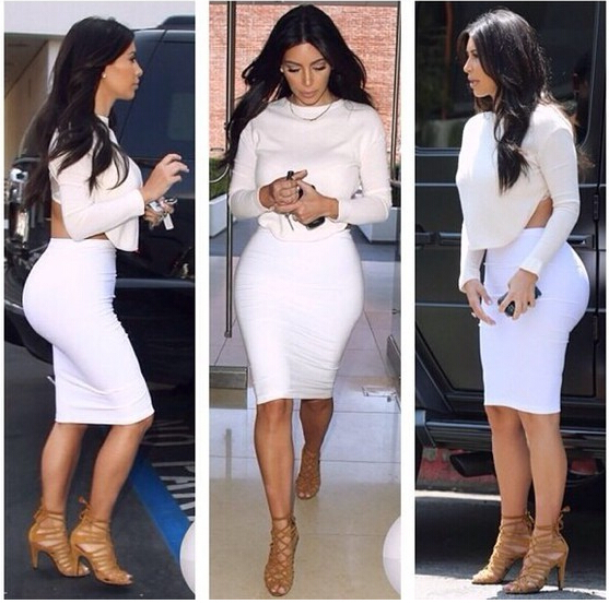 2014 Kim Kardashian Dress White Long Sleeve Sexy Knee Length Party Dresses Sheath Custom Made Short Scoop Special Occasion Dress-in Prom Dresses from Apparel & Accessories on Aliexpress.com | Alibaba Group