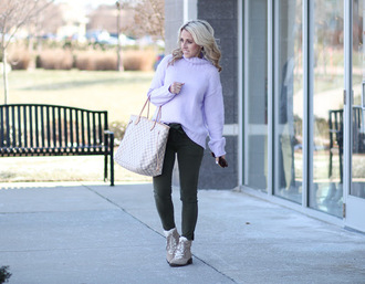 twopeasinablog blogger sweater pants shoes sunglasses turtleneck sweater louis vuitton bag winter outfits