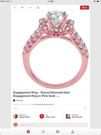 jewels engagement ring pink