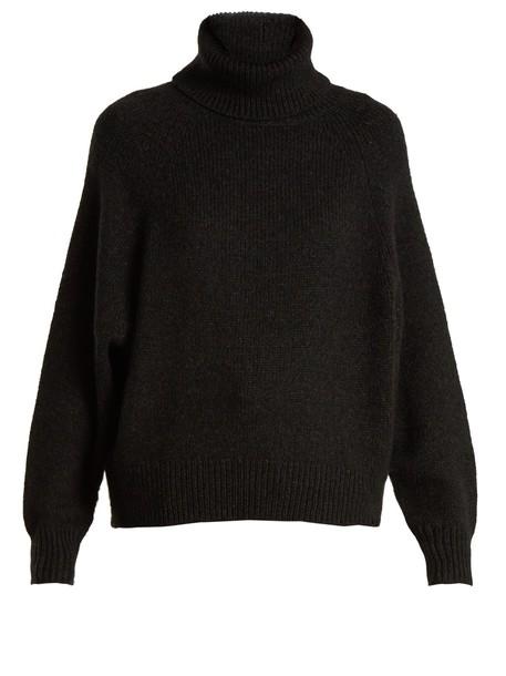 Nili Lotan sweater oversized wool dark grey