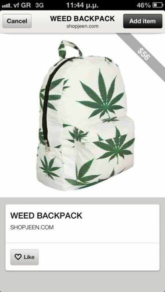 bag weed backpack marijuana old school hippie hipster girly tumblr denim shorts crop tops school bag teenagers miley cyrus weed backpack