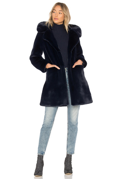 5149 coat faux fur coat fur coat fur faux fur blue