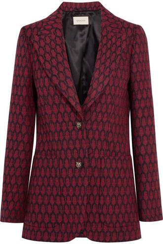 blazer wool red jacket