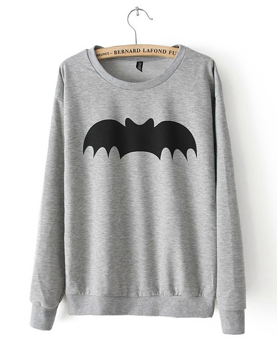 Fashion New 2013 women's winter hoodies 3d bat print casual slim hoodies women animal pullover winter coat  women free shipping-in Hoodies & Sweatshirts from Apparel & Accessories on Aliexpress.com
