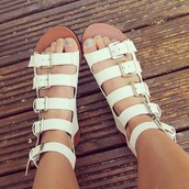 shoes,white,sandals,flip-flops,buckles,cute,funny,trendy