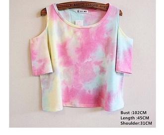 shirt pastel colors colorful tie dye