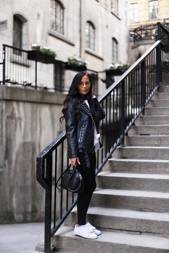 nataliaoona blogger jacket shirt pants shoes bag