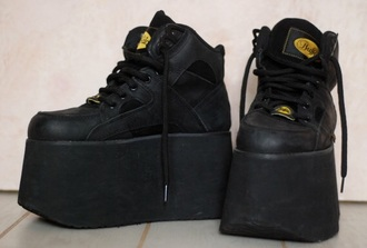 shoes rare black grunge 90s style vintage pale soft grunge dark aesthetic tumblr