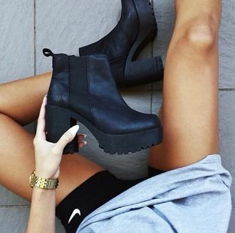 black boots platform shoes boots heels platform boots ankle boots