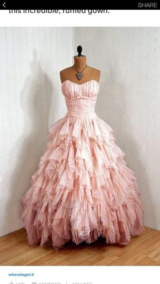 dress pink ruffle harry potter hermione