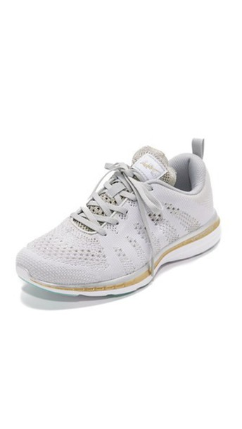 APL: Athletic Propulsion Labs sneakers gold silver white shoes