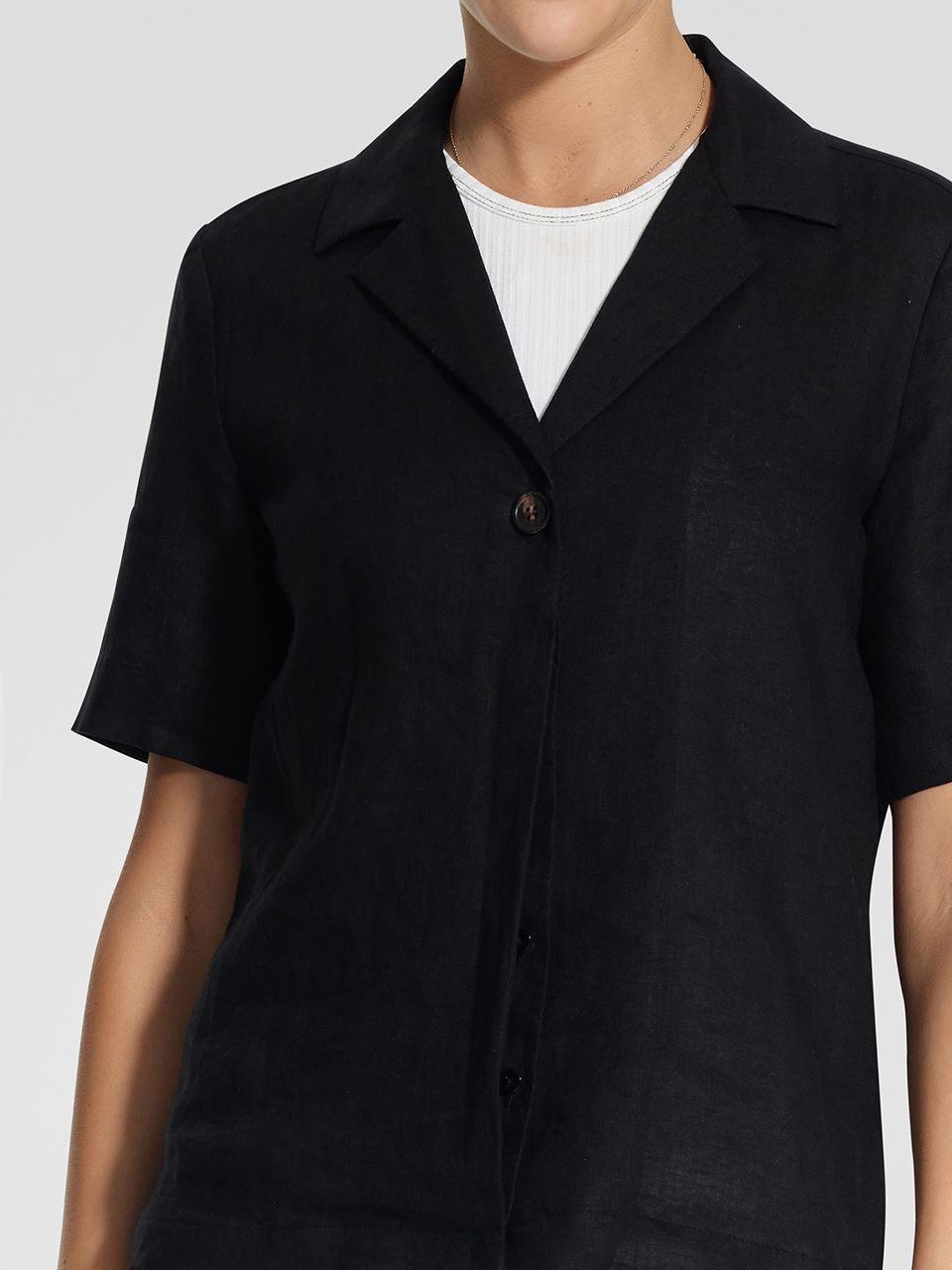 Gallery Shirt Linen Black