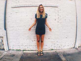 dress mini dress bodycon dress blue dress striped dress