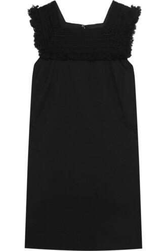 dress mini dress mini cotton black