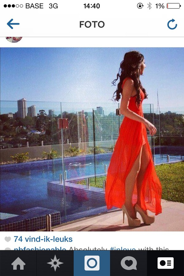 dress orange summer dress