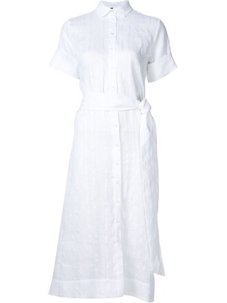 dress shirt dress short white