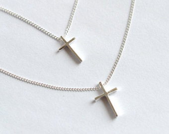 Double cross necklace on etsy, a global handmade and vintage marketplace.