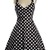 Polka Dot Halter Neckline Sexy Midi Dress