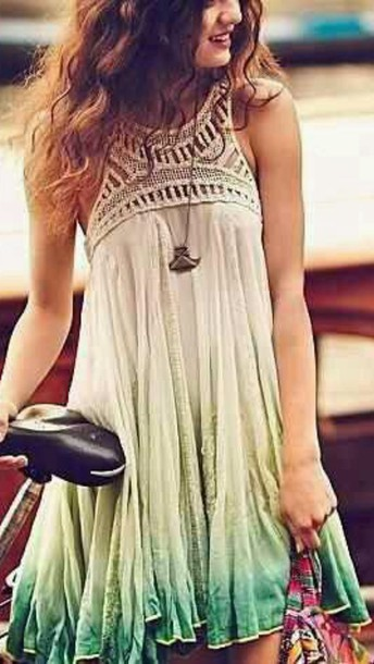 dress ombre flowy
