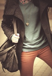jacket,pants,liv,coat,jeans,sweater,plaid shirt,flannel,ootd,fall outfits,bag