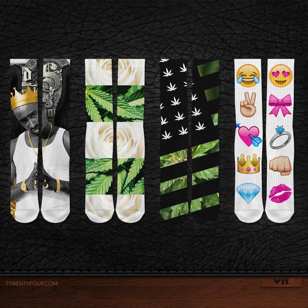 socks emoji print flag tupac hip hop roses iphone