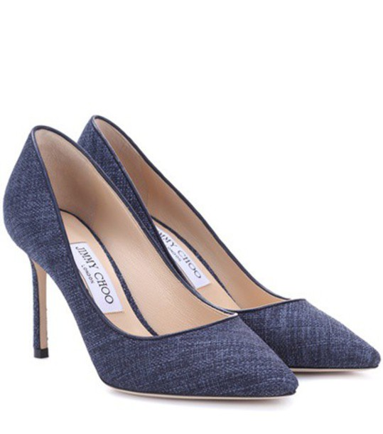 Jimmy Choo pumps blue shoes