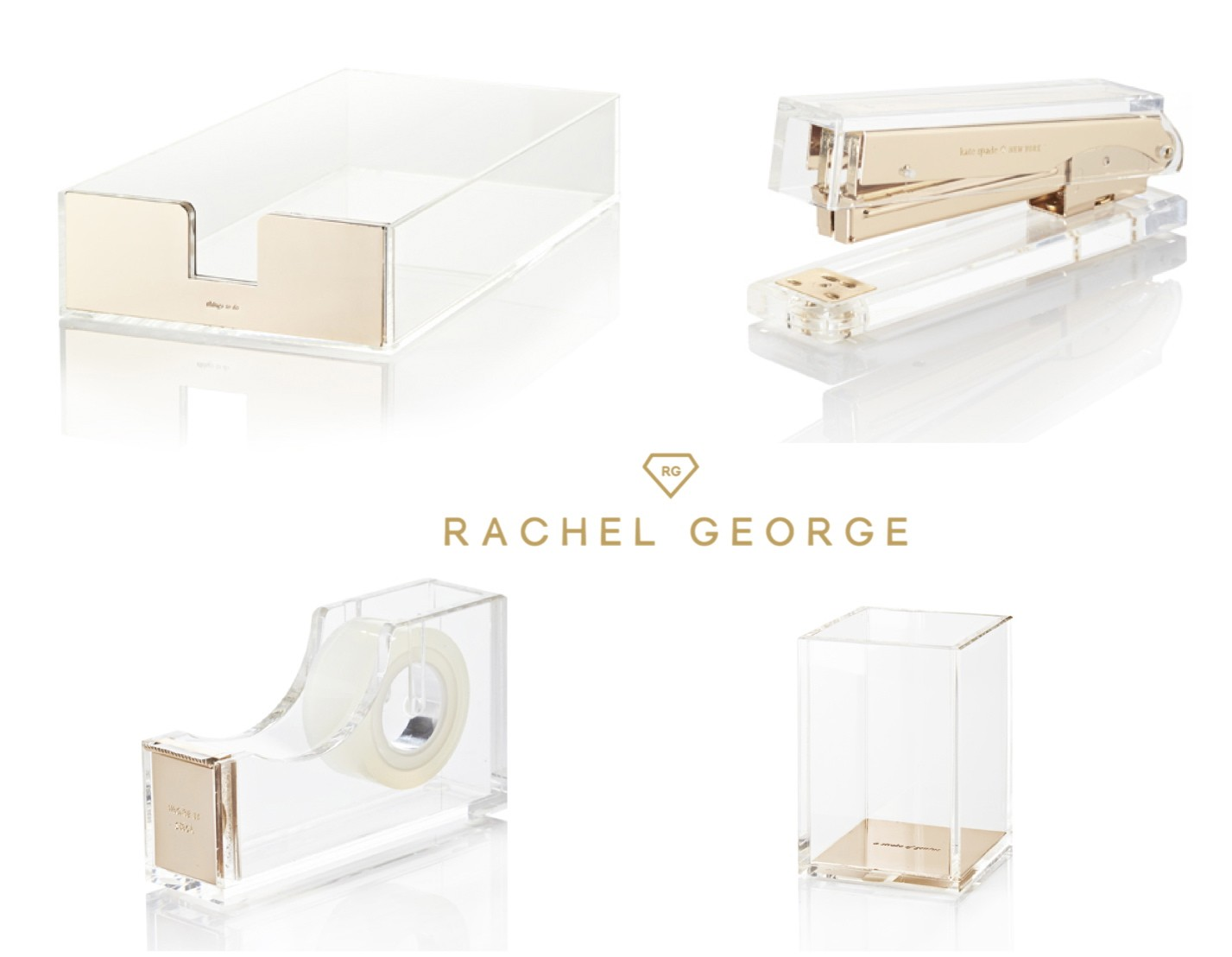 Kate spade acrylic gold office set