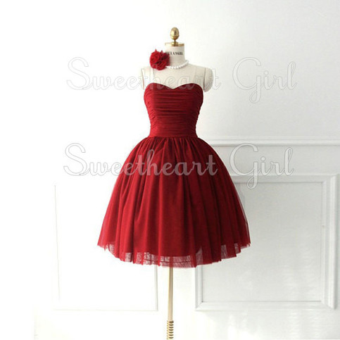 Sweetheart Girl | red strapless ball gown prom dress / homecoming dress / cocktail dress | Online Store Powered by Storenvy
