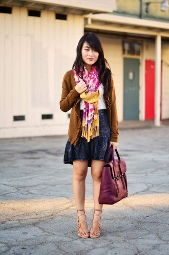daily disguise scarf shoes shirt sweater skirt