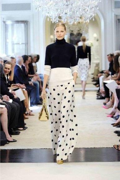 pants ralph lauren polka dot