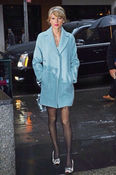 coat taylor swift blue