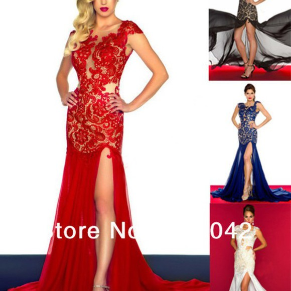 red dress prom dress lace dress ball wedding dress evening dress evening gowns chiffon dress little black dress white dress split cap sleeve bridesmaid dress women dress dresses